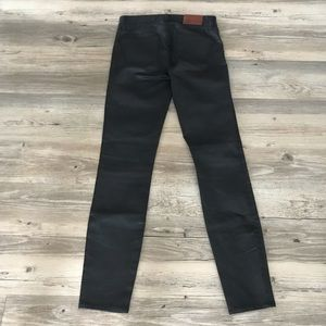 Madewell Skinny Faux Leather Pant With Stretch NEW